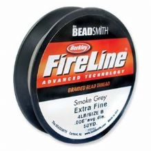 Fireline Beading Thread Smoke 4lb - 50 Yards